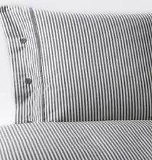 Ikea Nypronros Double Duvet Set, 200x200 cm, Grey & White, 2 Pillowcases, BNWT
