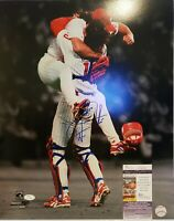 Darren Daulton(d) Signed Philadelphia Phillies 16x20 Photo Inscribed JSA COA