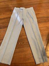 Vtg 70s Sansabelt Blue Rockabilly Style Dress Slacks Pants 34x31 Polyester Knit