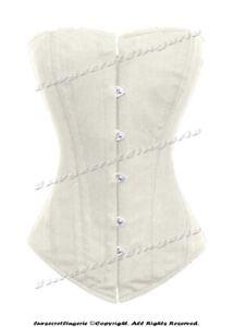 Heavy Duty 26 Double Steel Boned Waist Training Cotton Overbust Corset #9974-TC