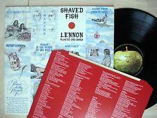 John Lennon Shaved Fish + Inner Laminated UK LP Imagine Apple PCS 7173 1975 EX+