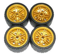 LEGO 4 Technic Racing Tires 37 x 22 ZR Gold Wheels 30.4mm D. x 20mm 70727 76012
