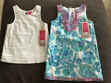 Lilly Pulitzer for Target 2pc Lot-5T White Tank TODDLER and Sea Urchin 5T Dress
