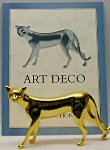 A FRANKLIN MINT CURIO CABINET CAT COLLECTION FIGURINE THE --ART DECO-- + CERTIFI
