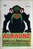 XL HiQ Facsimile of 1918 Alraune German Movie Poster~ 36 x 24 ~ Hungarian Occult