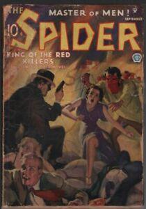 Spider 1935 September.     Pulp