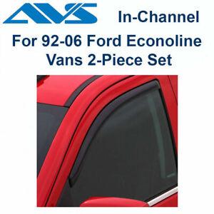 AVS 192077 In-Channel Window Deflector Ventvisor 2-Piece 1992-2006 Ford Vans