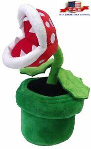 "Super Mario Bros Piranha Plant Plush Toy Doll Gift Stuffed Flower Animal 9"""