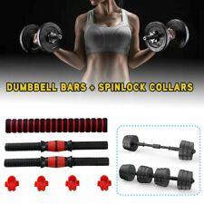 "Unisex 40cm Dumbbell Bars + Spinlock Collars Weight Lifting Set1"" Standard"