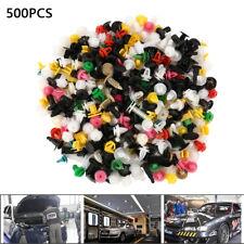 500PCS Plastic Car Door Trim Clip Bumper Rivets Screws Panel Push Fastener Kit