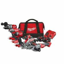 Milwaukee M18FPP5M-502B 18v 5 Piece Cordless Tool Kit In Carrying Bag