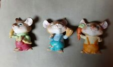 New listing Lot 3 Mice Figurines Vintage Mouse Figurine Homco 5601 Cute Holding Food Retro