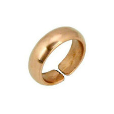 SOLID Tibetan COPPER Adjustable Ring BAND Polished Plain Simple Mens Jewelry
