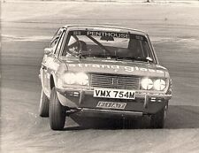 Fiat 128 Sport Coupe Saloon Car Racing Original Early 1970s UK Press Photograph