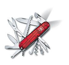 Victorinox HUNTSMAN LITE Swiss Army Knife W/ Black Leather Clip Pouch Swiss Made