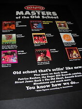 Masters Of The Old School Soul Promo Poster Ad Rhino