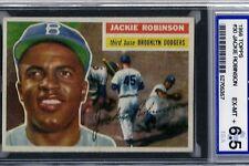 1956 TOPPS BASEBALL #30 JACKIE ROBINSON ISA 6.5.