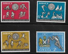 Jamaica Scott #197-200, Singles 1962 Complete Set FVF MH