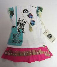 Mini Shatsu Dress 6 M Multicolor Cap Sleeves Wear Invisible Crown Baby NEW