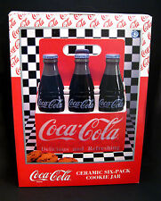 Coca-Cola Brand Six-Pack Ceramic Cookie Jar NEW From Enesco 1996----New in Box
