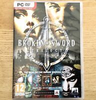 Broken Sword Trilogy PC DVD ROM. Mastertronic Games. UK SELLER.