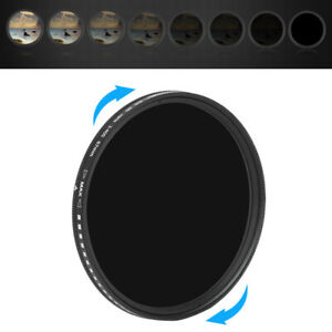 ZOMEi 52mm Slim Variable ND2-ND400 Adjustable Fader Neutral Ultra Stop ND Filter