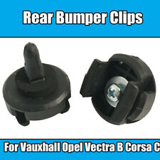 1x For Vauxhall Opel Rear Bumper Clips Vectra B Corsa C Black Plastic 1406469