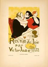 ORIGINAL VINTAGE POSTER REINE DE JOIE LAUTREC AFFICHES ILLUSTREES 1896