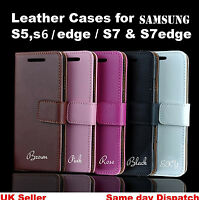 Premium Leather Flip Case Wallet Cover For Samsung Galaxy S6, S6 Edge,S7,S7 Edge