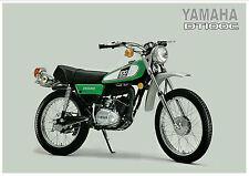 YAMAHA Poster DT100 DT100C Trail 1976 Superb Suitable to Frame