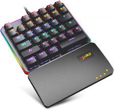 FELiCON V200 One-Handed RGB Mechanical Gaming Keyboard, Blue Switches, USB 35