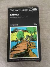1973 Ordnance Survey Tourist Map Exmoor (incl Porlock, Lynton, Tiverton, Exford)