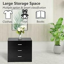 Nightstand Bedroom Dressers Chests of 3 Drawers Wood Drawer Cabinet Storages