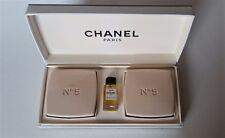 CHANEL No 5 Eau de Toilette (4 ml) and Perfumed Soaps (75 g X 2) Trio Set