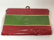 """Kate Spade New York Larabee Dot Cranberry Red Table Runner 15"""" x 90""""  NWT"""