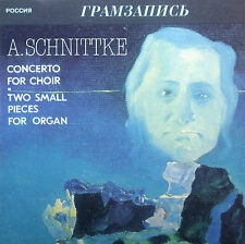 CD SCHNITTKE - concerto for choir, two small pieces organ, Melodiya/Gramzapis