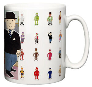 Dirty Fingers Mug, Mr Benn Classic Animated TV Show Retro The Shopkeeper Gift