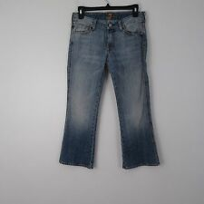 7 Seven for all Mankind A Pocket Jeans Distressed Crop Capri Size 27