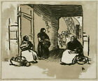 COLOR WOODCUT French ~ AUGUSTE LEPERE (1849-1918) ~ c.1887 Paris WOODBLOCK