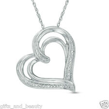 Zales sterling silver heart fine necklaces pendants ebay for Jared jewelry the loop
