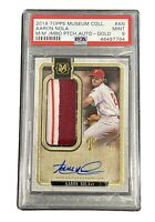 AARON NOLA 2018 TOPPS MUSEUM COLLECTION JUMBO PATCH AUTO GOLD #AN PSA 9 MINT 2/5