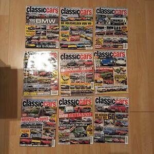 Zeitschrift Classic Cars, 9 Ausgaben, gebraucht