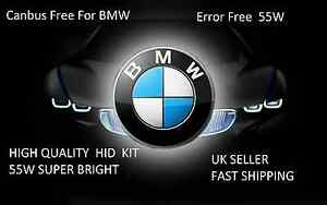 CANBUS FREE XENON HID KIT FOR BMW HIGH QUALITY ERROR FREE KIT 55W SUPER BIRGHT