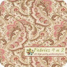 Paisley in Linen - Rustic Blush - Verna Mosquera Fabric Half yard FREE POST