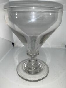 Large Early 19c Antique Rummer Drinking Glass