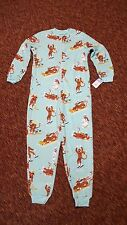 NICK & NORA Downhill Sock Monkey one piece fleece pajama SMALL union suit