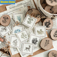 Cute plant Decoration Wooden Rubber Stamp Scrapbooking Cards Decor Painting