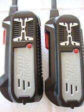 Spy Gear Field Agent Walkie Talkies Two Black Gray Belt Clip Battery Toy Intel