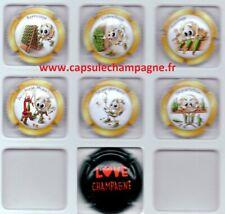 Capsules de champagne série Générique Collection P'tit Cap's Champagne + Love