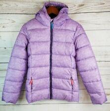 Kids Puffer Jacket Champion X-Large 14-16 Purple Zip Up Hooded Winter Coat